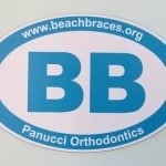 Beach Braces Car Magnet