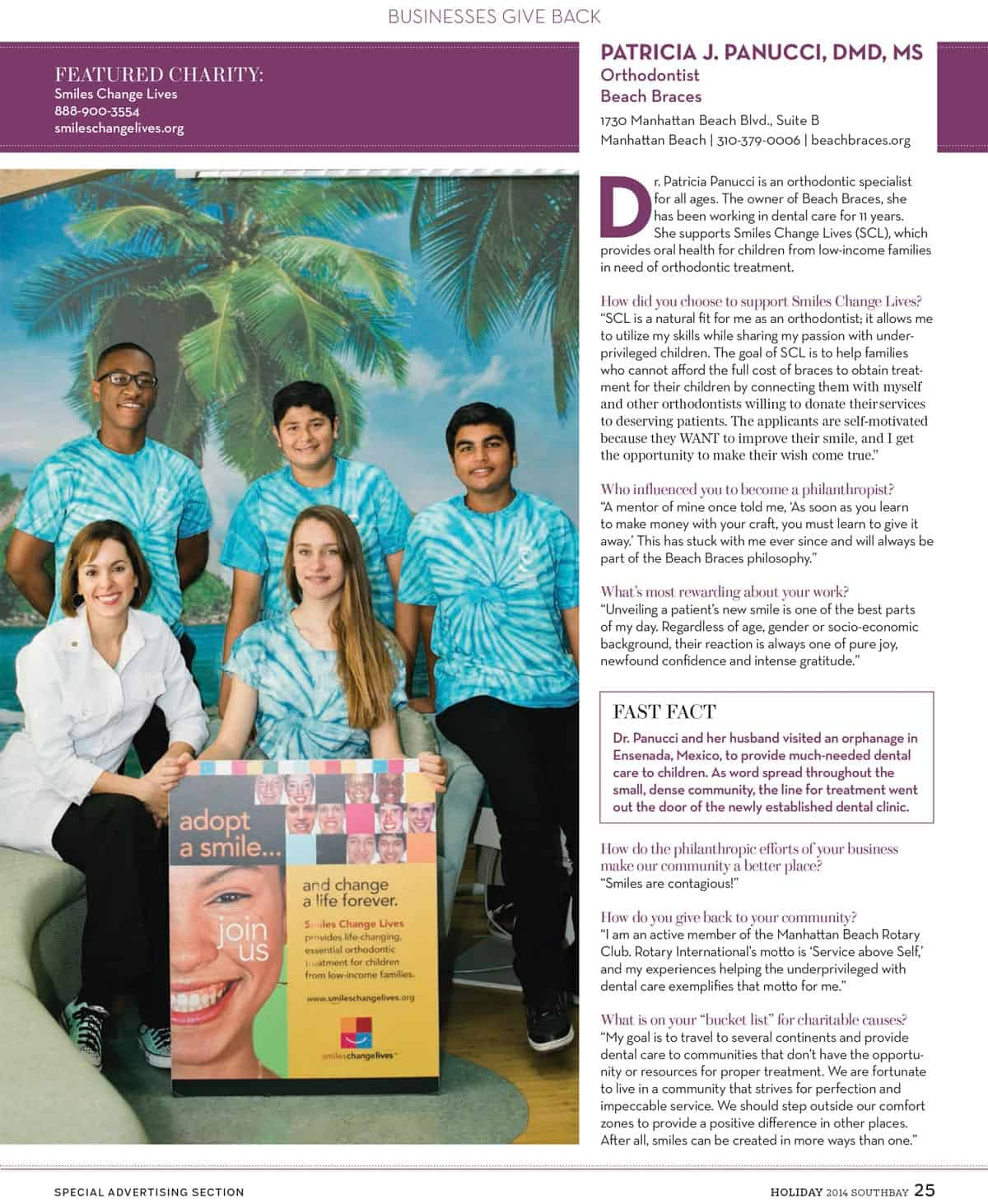 SouthBay magazine article