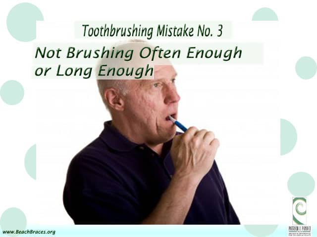 Brushing teeth correctly
