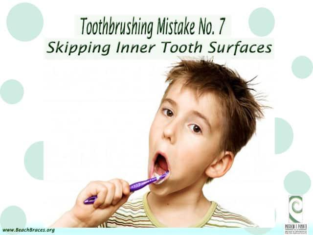 Toothbrusing Mistake 7