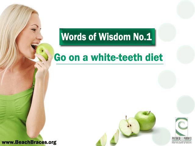 a white-teeth diet