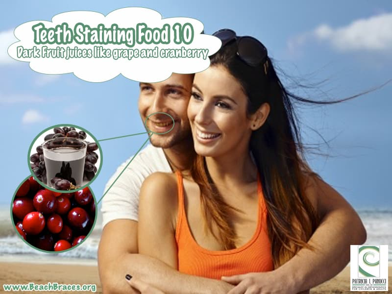 Teeth staining foods, orthodontic specialist Manhattan Beach, Beach Braces