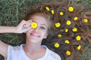 teen girl smiling